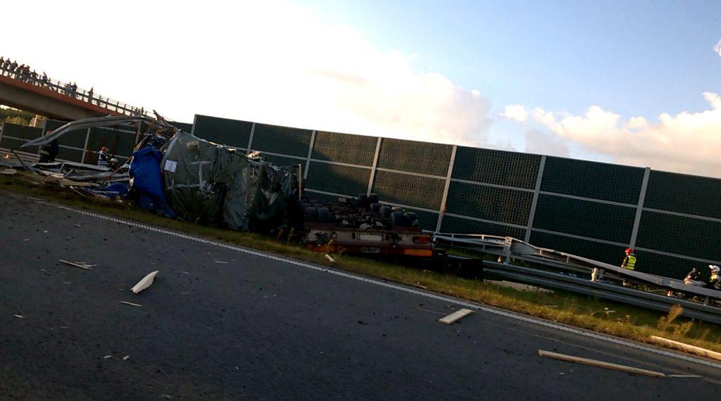 Wypadek naautostradzie